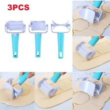 3PCS Fondant Dough Roller Cutter Biscuit Mold Maker Cake DIY Decorating Tool F