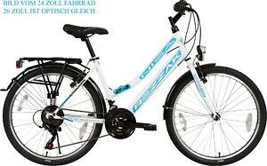 "Damen Fahrrad 26 zoll Mädchen rad  26""Damen Cityfahrrad city  Weiss türkis Neu"