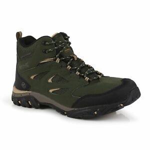 Regatta Men's Holcombe IEP Waterproof MID Hiking Boots - Green Bayleaf/Oat
