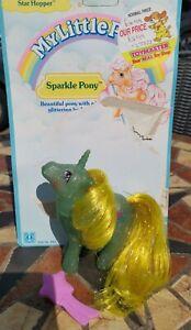 Vintage My Little Pony G1 Star Hopper Starhopper Sparkle MLP with backcard brush