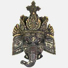 Trunk Ganesh Wall Hanging - Black Carving