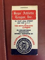 Packet of Boy's Athletic League Stickers 1960s' NYC Camping 3 Stickers Missing
