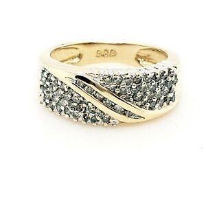 Diamantring 585 Gelbgold Gr.53 Damen Ring Diamant 14KT