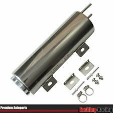 "3""X10"" (3x10) Polished Stainless Steel Radiator Coolant Overflow Puke Tank 32OZ"