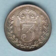 New listing Great Britain. 1887 Jubilee Head - Threepence. Bu