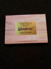 Wander Beauty Wanderess Dusk to Dawn Blush and Highlighter palette swatched