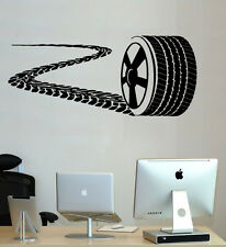 Wheel Wall Decal Vinyl Sticker Wall Decor Racing Car Nursery Tire Tracks SM192