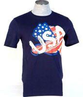 Puma Logo USA Country Tee Navy Blue Short Sleeve Tee T Shirt Men's NWT