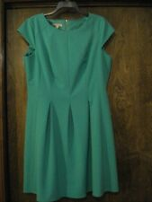 DB or CB Green Cap Sleeve Dress, SZ - 16
