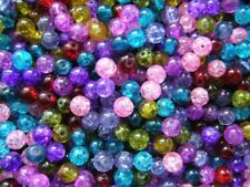 Crackle Glass 8 - 8.9 mm Size Jewellery Making Beads