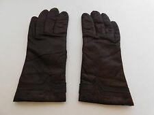 FOWNES LADIES BROWN LEATHER WINTER GLOVES ACRYLIC KNIT LINING SIZE 7