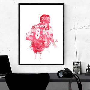 Freddie Ljungberg - Arsenal Inspired Football Art Print Design The Gunners