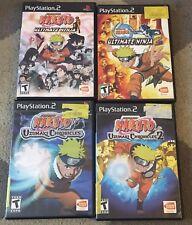 Naruto Playstation 2 Game Lot PS2 Ultimate Ninja 1 + 2 Uzumaki Chronicles 1 + 2