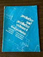 Preludes&Postludes Vol.4 Organ Sheet Music Religious Devotional 1976 Liturgical