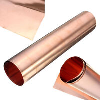 99.9% Pure Copper Cu Metal Sheet Single-sided Conductive Foil Roll Tape 1pc
