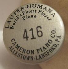 Old Unusual Pinback Button Advertising Lauter Humana Player Piano Allentown TMP