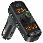 Bluetooth 5.0 Car FM Transmitter with Stronger Bass and Microphone, 41W QC +