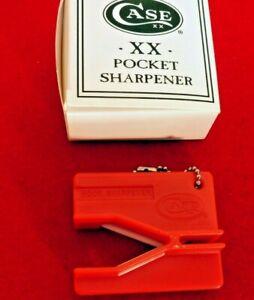 Case Cutlery 52451 Red XX Pocket Knife Sharpener w/2 Interchangeable Rods