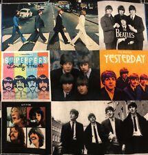 Beatles 100% Cotton Fabric Album Cover Collage John Lennon Paul McCartney More