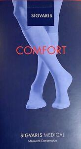 Kompressionsstrümpfe SIGVARIS COMFORT Caramel Gr. XXS Plus Long geschl. Fusssp.