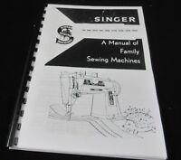 Singer 15k 66k 99k 327k 328k 329k 404k Instruction Manual printed user guide