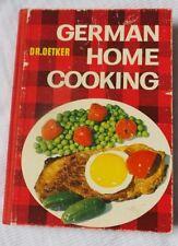 German Home Cooking Dr Oetker  Dumplings, Sauerkraut 1963 Revised Edition