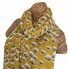DANDELION SCARF Ladies Scarf with Floating Dandelions Design Superb Quality