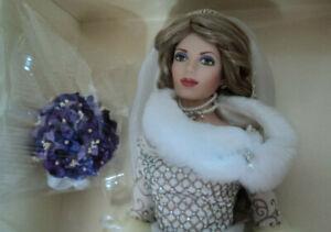 "FRANKLIN MINT 16"" POSSIBLE RUSSIAN BRIDE DOLL NRFB!"
