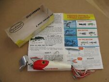 Vintage Fred Arbogast 5/8 oz Sputterbug Lure with Box and Catalog.