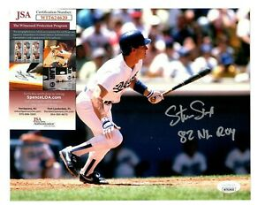 Steve Sax Signed Autograph LA Dodgers 8x10 Photo W/82 NL ROY - JSA WIT624620