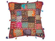 "Boho Decorative Beaded Floor Pillow Cover Ethnic Patchwork Large Euro Sham 26"""