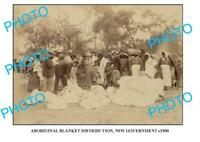 OLD 6X4 AUST ABORIGINAL 6x4 PHOTO OF NSW GOV BLANKET DIST