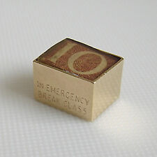 9ct GOLD HALLMARKED GEORG JENSEN 10/- NOTE IN BOX CHARM