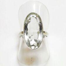 Ringe mit Edelsteinen im Solitär Stil ovale echten Topas