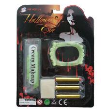 Kids Vampire Makeup Set + Vampire Teeth Fancy Dress Halloween Party Makeup