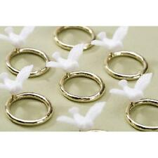 Dove on a Gold Ring Embellishment 48 pieces Victoria Lynn Wedding Cake Decor