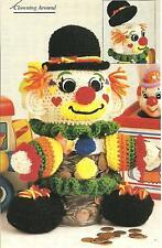 *Funny Money Clown Bank crochet PATTERN INSTRUCTIONS