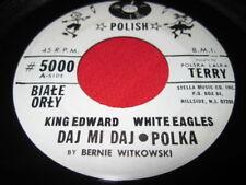 KING EDWARD WHITE EAGLES - RARE POLKA 45 POLISH