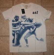 NWT Abercrombie Boys XL Muscle Fit Football Baldface Mountain T-Shirt