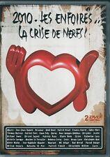 2 DVD ZONE 2 CONCERT COLLECTOR--LES ENFOIRES / LA CRISE DE NERFS 2010