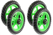 "SET OF 4 SOAP BOX WHEELS 10""(250mm) FULL BEARING MAG WHEELS SPECIALPROJECT GREEN"