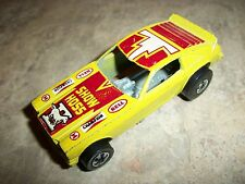 HOT WHEELS--YELLOW SHOW HOSS MUSTANG CAR (LOOK) BLACK WALLS VERSION