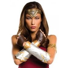 Wonder Woman Costume Tiara Bracelets Gloves Adult Batman v Superman Halloween