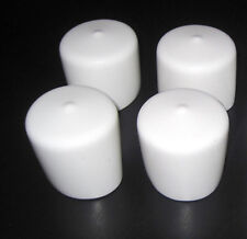 "4 pk- 1 1/4"" Round White Flexible Vinyl End Cap 1.25"" Rubber Pipe Post Tube Dock"