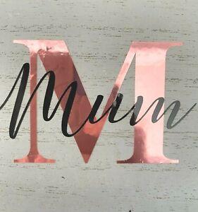 Vinyl sticker label personalised name & initial yankee candle mug glass Mum Nan