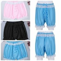 Mens Sissy Lingerie Lace Panties Underwear Briefs Bloomers Sports Lounge Shorts