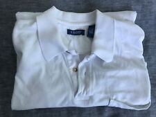 Mens IZOD Short Sleeve Smart Casual Golf Sports Club Polo Shirt White Size M
