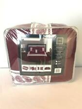 * Chic Home Titian 8-Pc Comforter Set Bed In A Bag Queen Burgundy Bcs10827 New