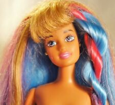 Vintage 1990s Posable Barbie Theresa Hula Hair Doll Nude