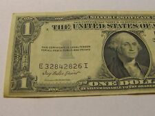 1935 E  1 ONE  DOLLAR  SILVER CERTIFICATE BANKNOTE BILL  CRISP  make an offer